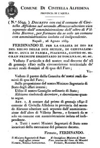 decreto civitella